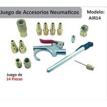 Kit Juego 14 Accesorios Neumáticos Para Compresor Promoción