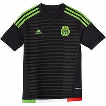 Jersey Original Selección México 2015-2016 Manga Corta Negra