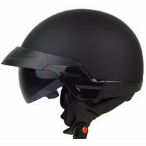 Casco De Moto Motociclista Tipo Piloto Negro Envio Gratis.