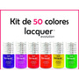 Kit Lacquer Evolution 50 Colores 8 Ml ( Gel Gelish Esmalte )
