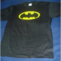 Batman Classic Escudo Playera Camiseta Negra