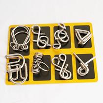 Paquete De 8pzs Rompecabezas De Alambre Metal Puzzle Bt004