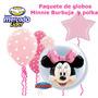 Globo Burbuja Minnie,polka Rosa,mimi Mouse
