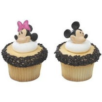 Minnie Y Mickey Mouse Decorativos Cake Cupcake Toppers Anill