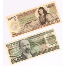 $500 Madero 1984 Y $1000 Sor Juana 1985 - ¡impecables!