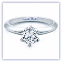 Anillo Compromiso Diamante Natural 1.08ct Oro 18kt Blanco