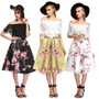Faldas Vintage Flores Cintura Alta Moda Importada Japonesa