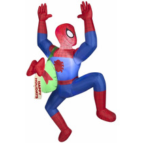 Spider Man Inflable Navideño Decoracion Navidad 1.5 Mts