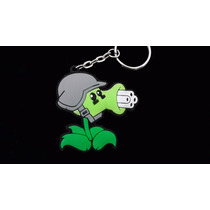 Plantas & Zombies Doble Vista Precioso Llavero Ahulado 0976
