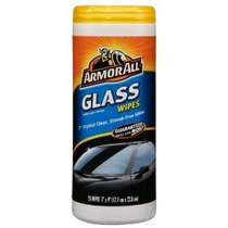 Armor All Glass Cleaner Limpie Plástico Canister- 25 Hojas (