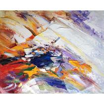 Pintura Abstracta Al Óleo: Fuerzas En Conflicto