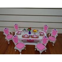 Barbie Tamaño Dollhouse Muebles- Comedor