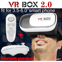Vr Box Dos 3d Realidad Virtual + Control Bluetooth Gear Vr