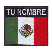 Mexico Bandera Parche Bordado Personalizado Escudo Militar