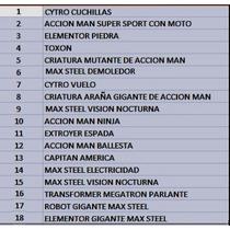 Vendo Cambio Lote De 18 Muñecos Maxteel Action Man Original