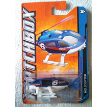 Helicopter, Mbx City, Helicoptero De Noticias, Matchbox, New