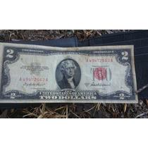 Villete Antiguo De 2 Dolares Americano