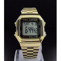 Reloj Casio Estandar A178wga Dorado Iluminator Dual Time
