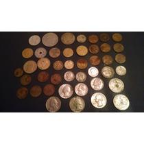 43 Monedas Antiguas De Varios Paises De Colección