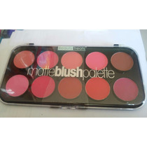 Paleta 10 Colores Rubor Mate - 526063 - Beautytreats