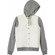 Sudaderas Mujer Rvca Regulate Hooded Fleece Beige Original