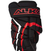 Guantes Para Hockey Alkali. Player Negro C/rojo