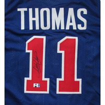 Jersey Autografiado Firmado Isiah Thomas Detroit Pistons Nba