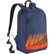 Mochila Nike 100% Originales Escolar O Gimnasio Azul/naranja
