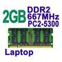 Memoria Ram Ddr2 P/ Laptop Sodimm 2gb Pc2-5300 667mhz