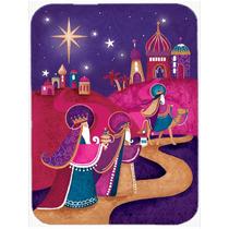 Navidad Sabios De Cristal Púrpura De La Tarjeta De Corte Gr