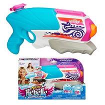 Pistola Agua Nerf Rebelle Super Soaker Cascade De Niña 600ml