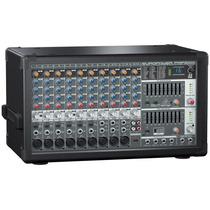 Mezcladora Behringer Amplificada Pmp2000 Activa 14ch 800w