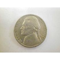 Usa 5 Centavos Lincoln Fecha 1984 Niquel