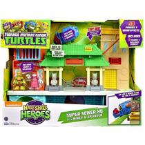Tortugas Ninja Casa Super Sewer Guarida Half Shell Heroes