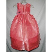 Nuevo Vestido Largo Fiesta Pajecita Princesa Noche 6 - 7 Año