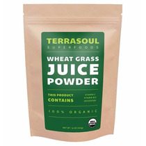 Wheat Grass Powder Orgánica Terrasoul 6 Oz / 170g