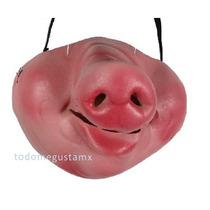 Máscara Antifaz Nariz De Cochino Cerdo Pig Disfraz Halloween