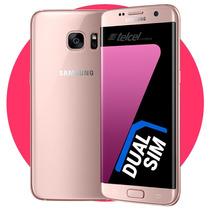 Samsung Galaxy S7 Edge Dual Sim Rosa Dorado En Mensualidades