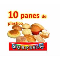 10 Panes Plastico Comida Juguete Réplica Prop Escenografía