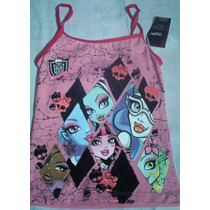Camiseta Monster High Color Rosa. Nuevo