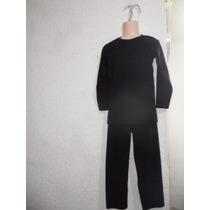 Conjunto Ropa Termica Para Niño Talla 4-6años En Color Negro