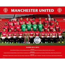 Manchester United Poster - Foto De Equipo 13 14 Mini 40x50cm