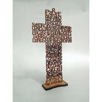 Cruz Padre Nuestro 30 Cms Mdf Madera Country