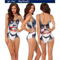 Sexy Traje De Baño Bikini Biquini Blanco Estampado Guason