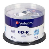 Disco Blue Ray  Verbatim Bd-r 6x 25gb 50 Discos Leer Descrip