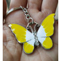 Mariposa Precioso Llavero Metalico Mariposa Amarilla 1255