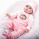 55cm Silicone   Vinyl   Cloth Reborn Baby Doll
