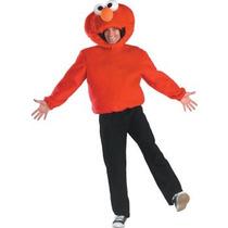 Disfraz De Elmo De Plaza Sesamo Para Adultos Y Adolescentes