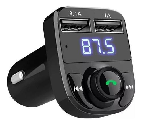 Bluetooth Transmisor Fm Auto Manos Libres Cargador 2 Usb