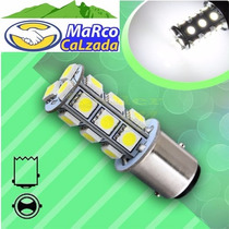 1x 1157 Led Bay15d 18 Smd Blanco Alta Y Baja Doble Polo